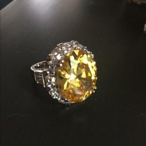 Citrin glass ring